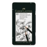 Boîte en métal de 12 crayons graphite CASTELL 9000 ART&GRAPH