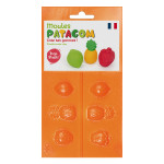 Moule pour Gomme à modeler Patagom Fruits