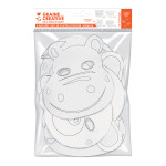 Masque plat Petits animaux 6 pcs