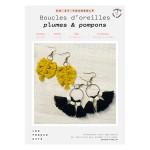 Kit DIY Boucles d'oreilles plume & nœuds
