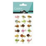 Stickers 3D Cooky oiseaux x 18 pcs