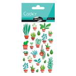 Stickers 3D Cooky jardin d'intérieur x 26 pcs