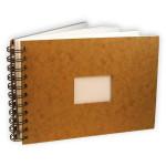 Carnet de voyage havane à spirale papier aquarelle 300 g/m² grain torchon - 14,8 x 21 cm (A5)