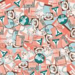 Papier Décopatch  30 x 40 cm 692  timbres