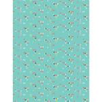Papier Décopatch 30 x 40cm 714 Petits triangles sur fond bleu