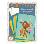 Coffret de création 8 invitations Chevaliers