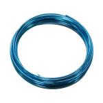 Fil aluminium d. 2.5 mm - 5 m - Bleu foncé