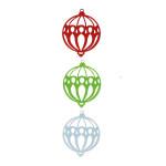 Feutrine - Noël Classique - 3 boules de Noël