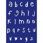 Pochoir My Style A4 alphabet lettres minuscules