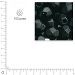 Facettes dépolies - Noir - 3 mm x 100 pces