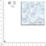 Mini perles de rocaille transparentes 2 mm - Cristal