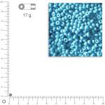Mini-rocailles opaques lustrées - Bleu clair - Ø 2 mm x 17 g
