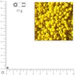 Mini-rocailles opaques - Jaune - Ø 2 mm x 17 g