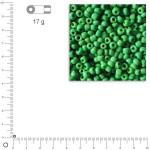 Mini-rocailles opaques - Vert - Ø 2 mm x 17 g