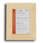 Support à décorer en bois - Cadre plat en bois 18 x 13 cm