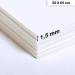 Carton mousse blanc - 1,5 mm - 50 x 65 cm
