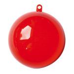 Support à décorer en plastique - Boule divisible Ø 7 cm - Rouge