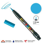 Marqueur  PCF-350 pointe pinceau - Bleu clair