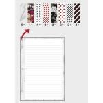 Pages lignées à motifs pour planner - A5 - 24 pcs