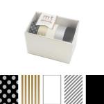Rubans décoratifs adhésifs -  Motifs assortis Or / Argent - Set de 5