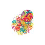Elastiques perlés pour bracelets Loops 150 transparents + 6 clips
