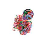 Elastiques pour bracelets Loops 300 bicolores + 12 clips