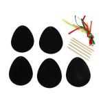Œufs de Pâques à gratter 11 x 9,5 cm - 5 pcs