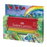 Crayon de couleur aquarellable Colour Grip + Trousse - Set Jungle