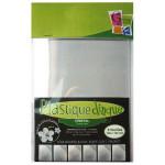Sachet de 6 feuilles de plastique dingue - Cristal (non poncé)
