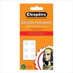 Pastille adhésive transparente permanente Cléotops - 80 pcs