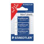 Gomme blanche Mars Plastic 2 + 1 gratuite