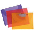 Pochette de rangement 27 x 35cm mandarine cassis