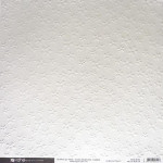Papier embossé - Fleurs - blanc