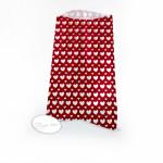 Sachet cœurs rouge avec étiquette par 12