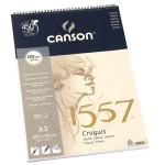 Canson 1557 grain léger 120g/m², bloc spiralé petit côté A3 - 29,7 x 42 cm