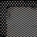 Double Dot Chevron - Papier Licorice