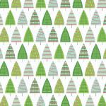 Papier Noël Classique sapins