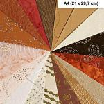 Bloc papiers du monde x 20f. - Ivoire/Marron - A4