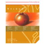 Bloc de papier pastel Velour 260 g/m² blanc 10 feuilles - 24 x 32 cm
