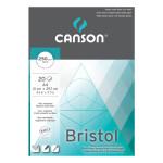 Bloc de papier Bristol 250 g/m² 20 feuilles A4