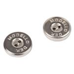 Boutons magnétiques argent 18 mm par 2