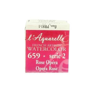 Aquarelle extra-fine au miel en demi-godet - 689 - Laque de Garance foncée T ***