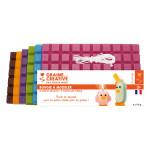 Cire à modeler couleurs Vives n°2 6 x 175 g + Mèche 1 m