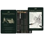 Crayons Pitt graphite boite en métal 11 pièces