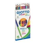 Crayons Stilnovo bicolore x 12 pcs
