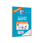 Fiche Bristol 2.0 Perforée 30 fiches Couleurs A5