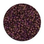 Perles Toho 11/0 metallic effet mat irisé 3g - 611 Anthracite