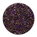 Perles Toho 11/0 metallic effet brillant irisé 3g - 81 Anthracite