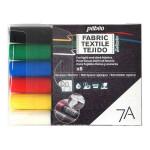 Marqueur textile Opaque 7A Set de base 6 couleurs