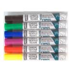 Marqueur textile Tissus clairs 7A Set de base 6 couleurs